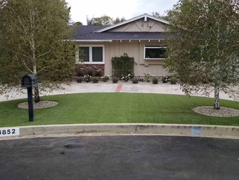 Synthetic Grass Jacumba California Landscape Design Small Front